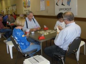 Returning partner's lead?  Ed Howard, Shirley Reese, John Fittell, Carol Ball -- March 29, 2013